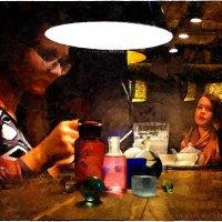 My magic Petersburg_01993_в кафе :: Станислав Лебединский