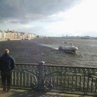 Перед бурей.Троицкий мост.Река Нева. :: Жанна Викторовна