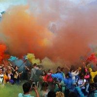 Цветной дымок :: Весёлый Енот