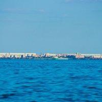 Город Волгодонск. Фото с пляжа Цимлянска. :: Сергей Гибков