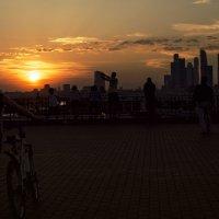 Закат, смотровая площадка, москва :: Анна Новикова