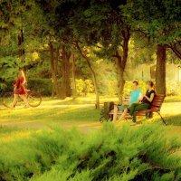 Вечер в парке :: Григорий Кучушев