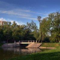 Пейзаж с мостиком :: Галина Galyazlatotsvet