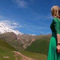 Горы и девушка :: ast62