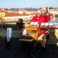 Известная личность на Карловом мосту в Праге :: татьяна