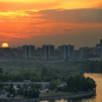 Закат над рекой :: Владимир Брагилевский