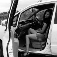 в машине :: Татьяна