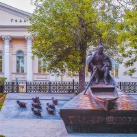 Москва. Памятник Михаилу Александровичу Шолохову. :: В и т а л и й .... Л а б з о'в