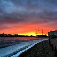 Зимний закат в Петербурге :: Artem Lapshin