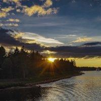 Закат на Волго-Балтийском канале :: Valeriy Piterskiy