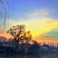 утро в синей дымке :: юрий иванов