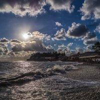 Закат над пляжем :: Андрей Дворников