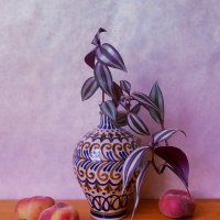 Зебрина в вазе и персики :: Nina Yudicheva