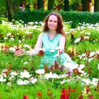 Я в Павловском парке среди цветов :) :: Анастасия Белякова