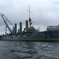 Крейсер «Аврора» вернулся на Петроградскую набережную. :: Anna Gornostayeva