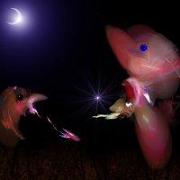 лунной ночью :: linnud