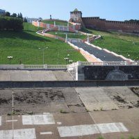 Вид на Чкаловскую лестницу (Нижний Новгород) :: Павел Зюзин