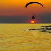 Закат на берегу черного моря .Крым :: Анна Кокарева