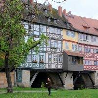 мост через Геру с 32 жилыми домами – Кремербрюке (1325 год) :: Olga