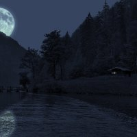 Ночь на озере :: Евгений +