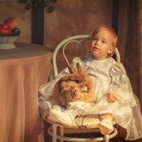 Дашенька и ее милый пушистый друг кролик :: Татьяна Семёнова