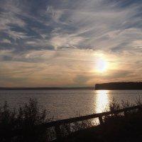 Закат на Ангарском заливе... :: Александр Попов