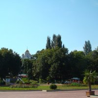 Набережная Волги(вид на храм Георгия Победоносца) :: марина ковшова