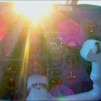 Восход в кабине Як42 на высоте 8550м. :: Alexey YakovLev