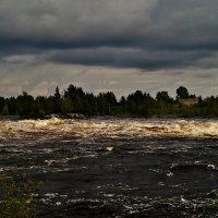 река и дождевое небо :: Валерия Воронова