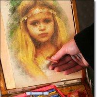Рисую мелками портрет :: Лидия (naum.lidiya)