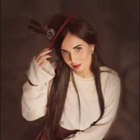Девушка в шляпке. :: Elena Klimova