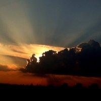 багряный закат над Москвой :: elena manas