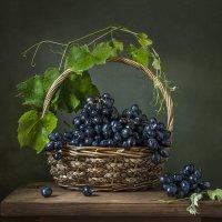 Корзина с виноградом. :: Людмила Костюченко