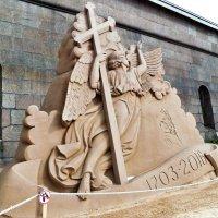 АНГЕЛ ПЕТРОПАВЛОВСКОГО СОБОРА,  Песчаные скульптуры. :: Виктор Елисеев