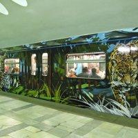 Новый тигровый поезд в метро :: Ирина Князева