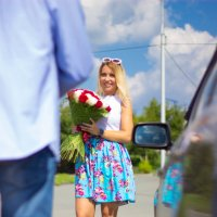 Девушка с цветами :: Борис Яковлев