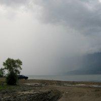 Вот такой вот дождик на южном берегу о.Телецкое. :: Любовь Иванова