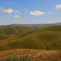 Вид на плато Бийчесын, Скалистый хребет и плато Малый Бермамыт (высота 2642 м.) :: Vladimir 070549