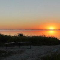 Закат на солёном озере Мормышанское. :: Олег Афанасьевич Сергеев