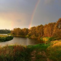 Радуга повисла над рекою :: Павлова Татьяна Павлова