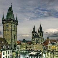 """Чехия. Прага. Вид на Староместскую площадь с крыши отеля """"У принца"""" :: Андрей Левин"""
