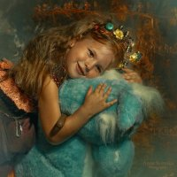 девочка на голубой лошади :: Анна Скиргика