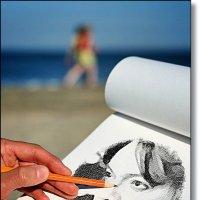 Рисую портрет любимого певца :: Лидия (naum.lidiya)