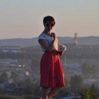 На фоне Первоуральска))) :: Лариса Красноперова