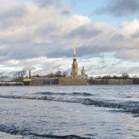 Вид на Петропавловскую крепость со Стрелки Васильевского острова :: Николай