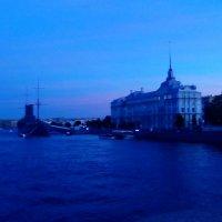 Лунный вечер над Невой. (Санкт-Петербург). :: Светлана Калмыкова