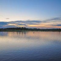 Закат на реке Белой :: Сергей Тагиров
