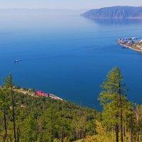 Вид сверху на исток Ангары :: Анатолий Иргл