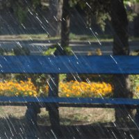 скамейка у фонтана :: Надежда Щупленкова