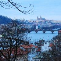 На  Прагу  опускаются  сумерки :: Наталья Казанцева